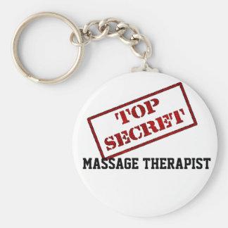 TOP SECRET MASSAGE THERAPIST KEY CHAINS