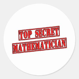 Top Secret Mathematician Classic Round Sticker
