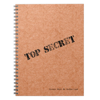 Top Secret Notebook (80 Pages B&W)