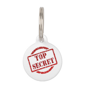 TOP Secret Round Small Pet Tag