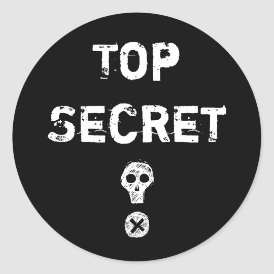 Top Secret Scull Sticker