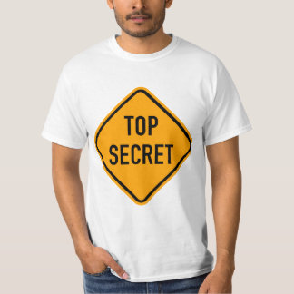 Top Secret Spy CIA Yellow Diamond Warning Sign