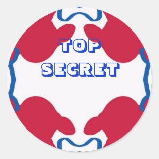 TOP SECRET sticker