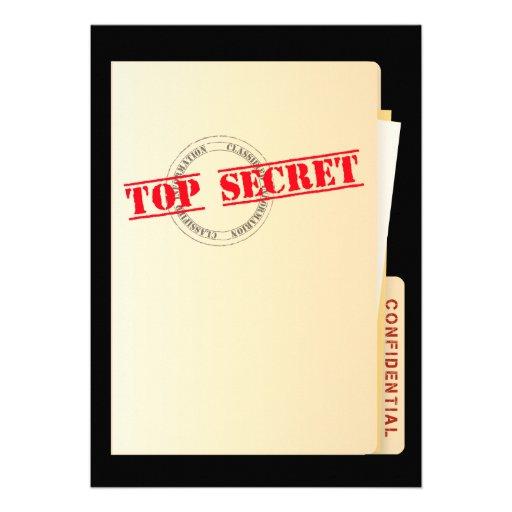 Top Secret Surprise Party Custom Invites