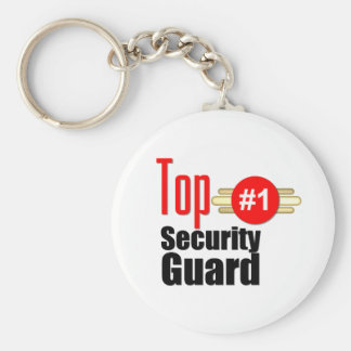 Top Security Guard Basic Round Button Keychain