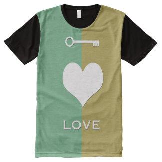 Top Selling Key -Is-Love Printed Panel T-Shirt