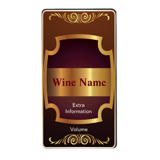 Top Shelf Red Wine Label