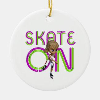 TOP Skate On Ceramic Ornament