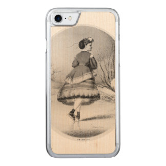 TOP Skating Beauty Carved iPhone 8/7 Case