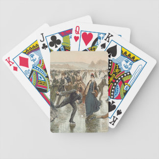 TOP Skating Old School Bicycle Playing Cards