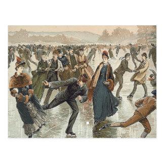 TOP Skating Old School Postcard