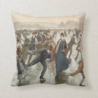 TOP Skating Old School Throw Pillow