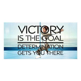 TOP Skating Victory Slogan Photo Card