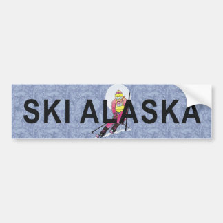 TOP Ski Alaska Bumper Sticker