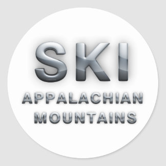 TOP Ski Appalachian Classic Round Sticker