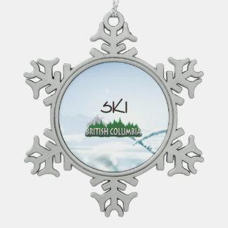 TOP Ski BC Pewter Snowflake Ornament