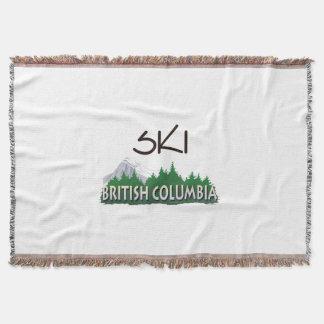 TOP Ski BC Throw Blanket