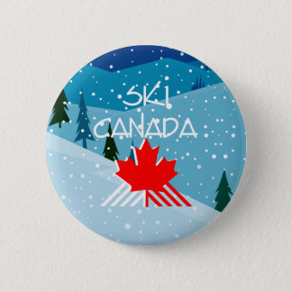 TOP Ski Canada 2 Inch Round Button