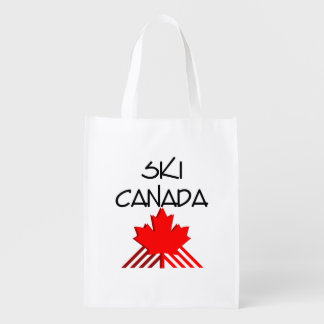 TOP Ski Canada Reusable Grocery Bag