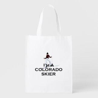 TOP Ski Colorado Reusable Grocery Bag