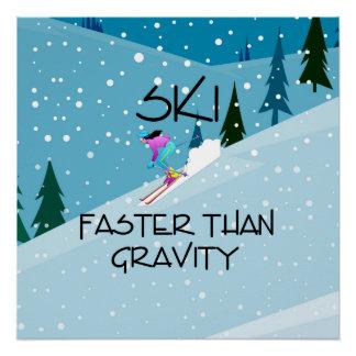 TOP Ski Faster Perfect Poster