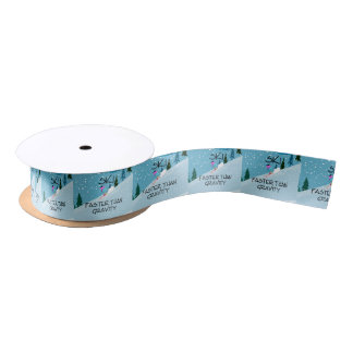 TOP Ski Faster Satin Ribbon