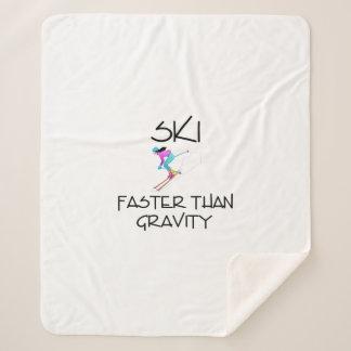 TOP Ski Faster Sherpa Blanket