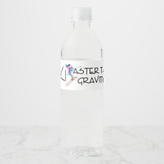 TOP Ski Faster Water Bottle Label