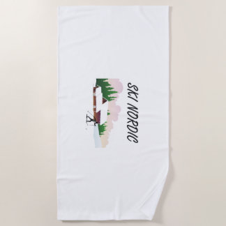 TOP Ski Nordic Beach Towel