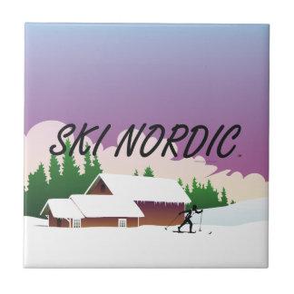 TOP Ski Nordic Tile