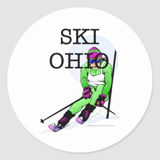 TOP Ski Ohio Classic Round Sticker