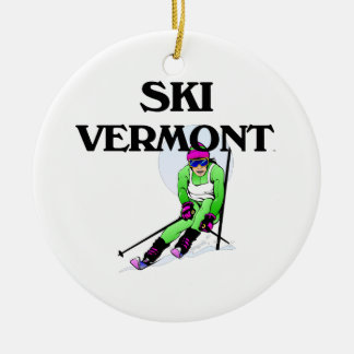 TOP Ski Vermont Ceramic Ornament