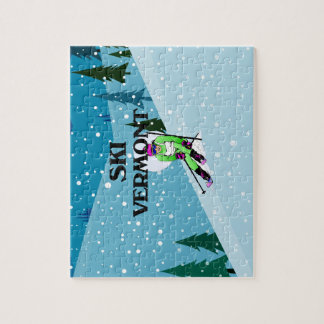 TOP Ski Vermont Jigsaw Puzzle