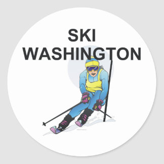 TOP Ski Washington Classic Round Sticker