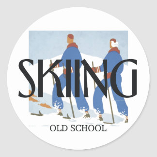 TOP Skiing Classic Round Sticker