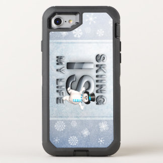 TOP Skiing is My Life OtterBox Defender iPhone 8/7 Case