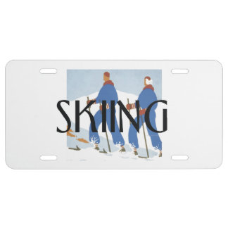 TOP Skiing License Plate