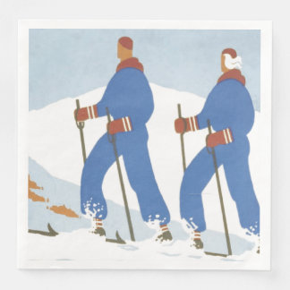 TOP Skiing Paper Napkin