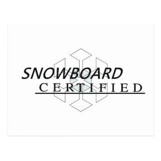 TOP Snowboard Certified Postcard
