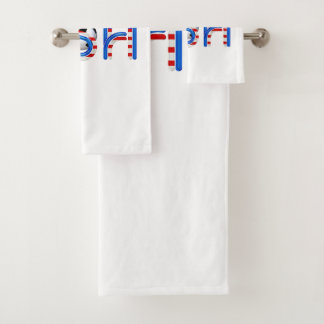 TOP Soccer USA Bath Towel Set