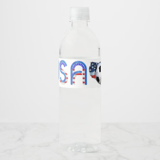TOP Soccer USA Water Bottle Label