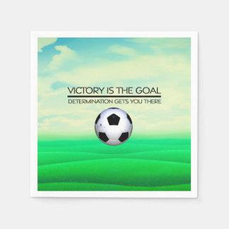TOP Soccer Victory Slogan Paper Napkins