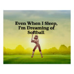 TOP Softball Dreams Poster