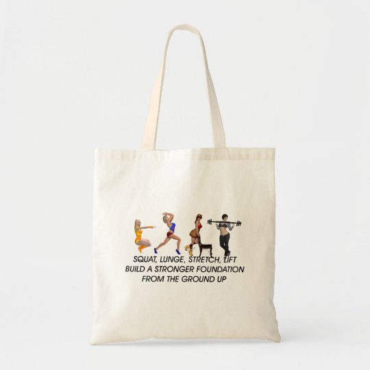 TOP Squat Slogan Tote Bag