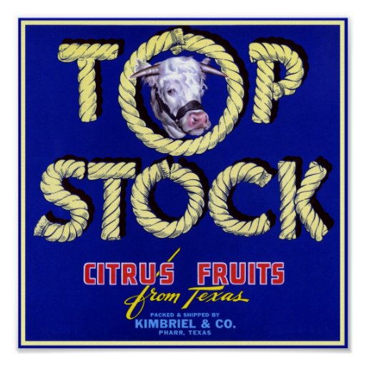 Top Stock Cow Poster