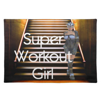 TOP Super Workout Girl Placemat