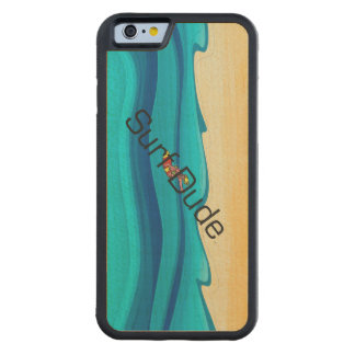 TOP Surf Dude Carved Maple iPhone 6 Bumper Case