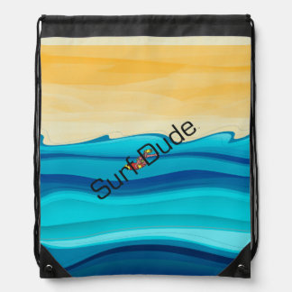 TOP Surf Dude Drawstring Bag
