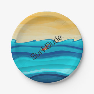 TOP Surf Dude Paper Plate