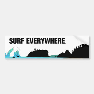 TOP Surf Everywhere Bumper Sticker